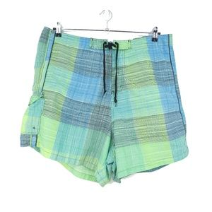 Discovery Cove Plaid Unlined Swim Trunks